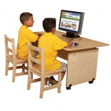 Mobile Adjustable Height Computer Table