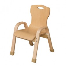 "Stacking Bentwood Plywood Chair - 10""H"