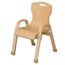 "Stacking Bentwood Plywood Chair - 12""H"