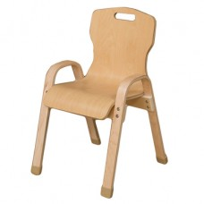 "Stacking Bentwood Plywood Chair - 14""H"