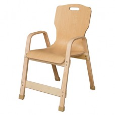 "Stacking Bentwood Plywood Chair - 16""H"