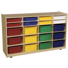 Bin Storage with Assorted Trays