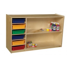 Shelf Storage with Assorted Trays