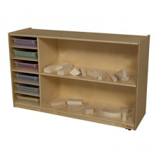 Shelf Storage with Translucent Trays