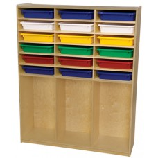 Storage Shelf with Assorted Trays
