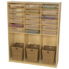 Storage Shelf with Translucent Trays