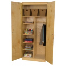 Three Adjustable Shelf Wardrobe Unit
