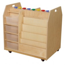 Trolley Art Cart with Translucent Trays