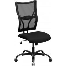 HERCULES Series Big & Tall 400 lb. Rated Black Mesh Executive Swivel Chair [WL-5029SYG-GG]