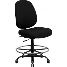 HERCULES Series Big & Tall 400 lb. Rated Black Fabric Drafting Chair [WL-715MG-BK-D-GG]