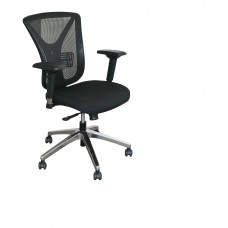 Executive Mesh Chair with Black Fabric only and Chrome Plated Base