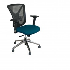 Executive Mesh Chair with Iris Fabric and Chrome Plated Base