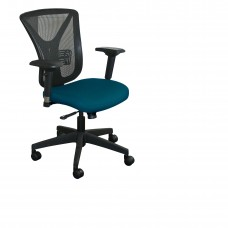Executive Mesh Chair with Iris Fabric and Black Base