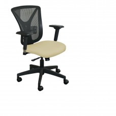 Executive Mesh Chair with Forsythia Fabric and Black Base