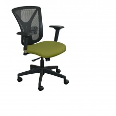 Executive Mesh Chair with Fennel Fabric and Black Base