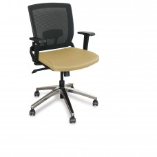 Mid-Back Executive  Mesh Chair with Forsythia Fabric and Chrome Plated Base
