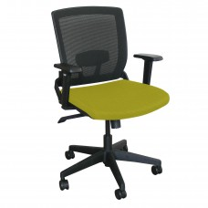 Mid-Back Executive  Mesh Chair with Lime Fabric and Black Base