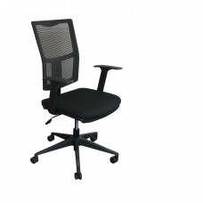 Task Mesh Chair with Black Fabric only and Black Base