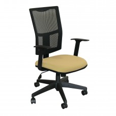 Task Mesh Chair with Forsythia Fabric and Black Base