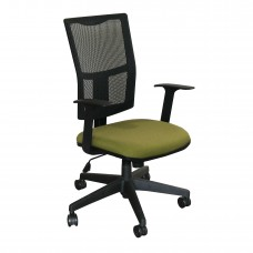 Task Mesh Chair with Fennel Fabric and Black Base