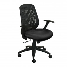 The Wave Flex-back  Chair with Black Fabric only and Black  Base
