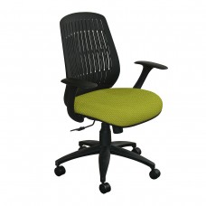 The Wave Flex-back  Chair with Lime Fabric and Black Base