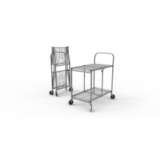 Two-Shelf Collapsible Wire Utility Cart