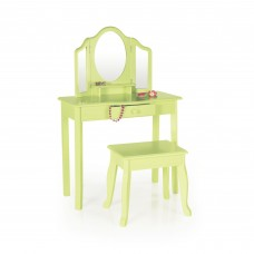 Vanity and Stool - Light Green
