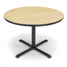 "OFM Round Multi-Purpose Table, 42"", Oak"