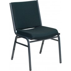 HERCULES Series Heavy Duty Green Patterned Fabric Stack Chair [XU-60153-GN-GG]