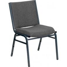 HERCULES Series Heavy Duty Gray Fabric Stack Chair [XU-60153-GY-GG]