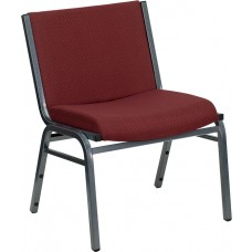 HERCULES Series Big & Tall 1000 lb. Rated Burgundy Fabric Stack Chair [XU-60555-BY-GG]
