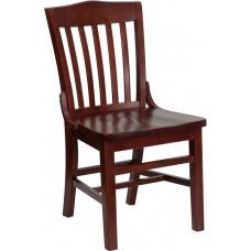 HERCULES Series School House Back Mahogany Wood Restaurant Chair [XU-DG-W0006-MAH-GG]