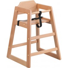 HERCULES Series Stackable Natural Baby High Chair [XU-DG-W0024-NAT-GG]