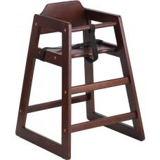 HERCULES Series Stackable Walnut Baby High Chair [XU-DG-W0024-WAL-GG]