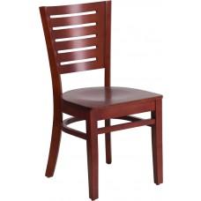 Darby Series Slat Back Mahogany Wood Restaurant Chair [XU-DG-W0108-MAH-MAH-GG]