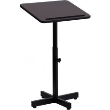 Adjustable Height Metal Lectern in Mahogany [XU-LECTERN-ADJ-GG]
