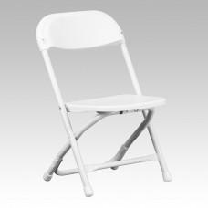 Kids White Plastic Folding Chair [Y-KID-WH-GG]