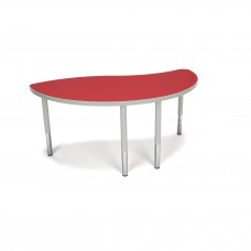 OFM Adapt Series Ying Student Table - 18-26″ Height Adjustable Desk, Red (YING-SL)