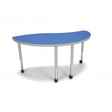 OFM Adapt Series Ying Student Table - 20-28″ Height Adjustable Desk with Casters, Blue (YING-SLC)
