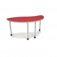 OFM Adapt Series Ying Student Table - 20-28″ Height Adjustable Desk with Casters, Red (YING-SLC)