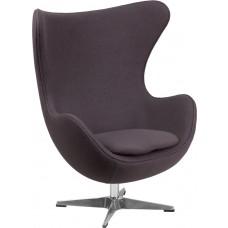 Gray Wool Fabric Egg Chair with Tilt-Lock Mechanism [ZB-18-GG]