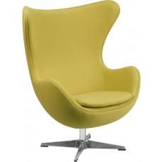 Citron Wool Fabric Egg Chair with Tilt-Lock Mechanism [ZB-20-GG]