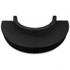 HERCULES Alon Series Black Leather Reception Configuration, 4 Pieces [ZB-803-520-SET-BK-GG]