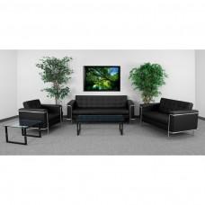 HERCULES Lesley Series Reception Set in Black [ZB-LESLEY-8090-SET-BK-GG]