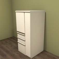 Ensemble  Personal Storage File Tower, 52x24x24 (right), Putty Finish