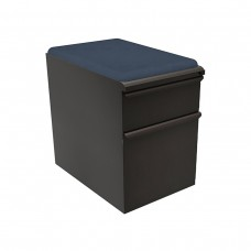 """Mobile Ped with Seat, Box/File, Dark Neutral 23""""D, Iris Fabric"""