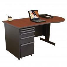Beautiful Zapf Office Desk, 60W x 30H, Dark Neutral Finish/Collectors Cherry Laminate