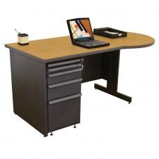 Beautiful Zapf Office Desk, 60W x 30H, Dark Neutral Finish/Solar Oak Laminate