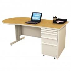 Beautiful Zapf Office Desk, 72W x 30H, Putty  Finish/Solar Oak Laminate